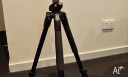 Rarely used, the tripod and head look like brand new,