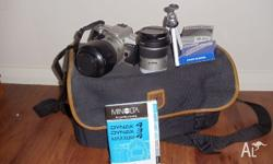 manolta camera in good condition, comes with 2