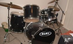 Mapex acoustic drum kit - Shalimar High hat & ride, 16""