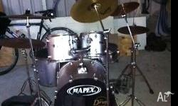 Mapex drum kit as per pics, ful kit includes upgraded