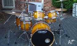 MAPEX MERDIAN MAPLE SHELL 6-PIECE DRUMKIT IN EXCELLENT