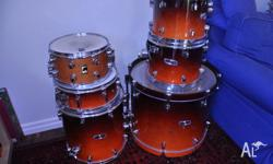 Mapex Pro M kit with loads of hardware and cases in