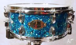 Maple 14in x 5.5in Snare Drum. Stagg Drums, JIA Abalone