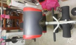 600lb weight bench with bicep curling platform and leg
