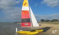 Maricat 4.3 14 ft off-the-beach catamaran Easy to sail,