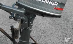 Mariner 4hp , 2 stroke outboard engine for sale. Just