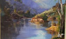 For sale oil painting Mark Redzic Canberra. Morning
