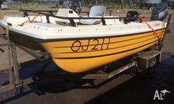 3.8m Markham Whaler with Yamaha 40HP 2-stroke motor and