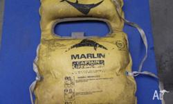 OLD MARLIN LIFE JACKET,SELLING THIS AS A DISPLAY ITEM