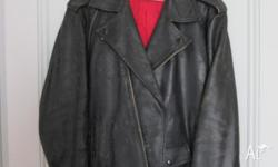 Old Marlon brando type leather jacket a bit of wear and