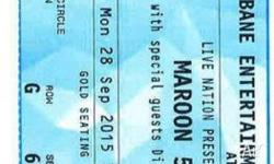 Selling 3 x Maroon 5 tickets - Brisbane Entertainment