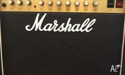 Marshall 50 watt leadAmp and foot pedal,distortion &