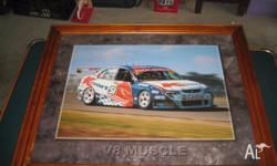 MART 51 V8 MUSCLE CAR PICTURE COME WITH FRAME 58CM X