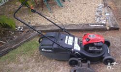 Masport 4 stroke mower with catcher. Briggs + Stratton