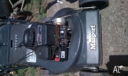 masport with briggs & stratton 4 stroke Starts easily