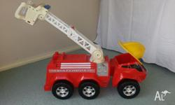 Fantastic Matchbox Fire Truck. Holds cars under hat and