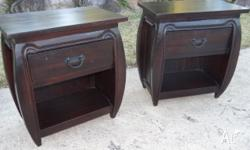These matching bedside tables each measure 55 x35 x61