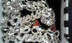 STERLING SILVER CUBIC ZIRCONIA GUESS necklace and