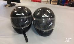 I am selling a matching pair rj road bike helmets