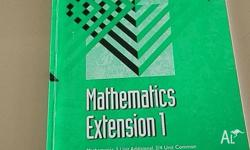 mathematics extension 1 past paper very good condition