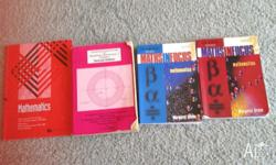 Maths in Focus books. Books include answers. $35 for