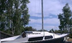 Matilda Timber 20' Trailer Sailer comes with: Full set