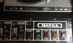 Matra Console with belt drive turntables, console
