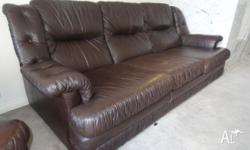 2 piece, 3 seater and a single 'Howe leather' brown