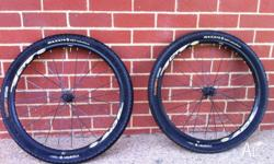 Tubeless 26 inch Mavic Crossride Disk Wheel set in good