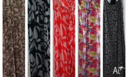 Fashionable maxi dresses Some hardly worn Sizes 10 - 14