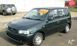 MAZDA, 121, 1999, Front Wheel Drive, Green, 5dr