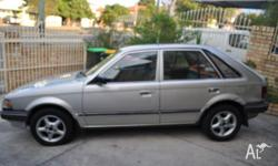 MAZDA, 323, 1989, Grey, 5D HATCHBACK, ONE YEAR REGO,