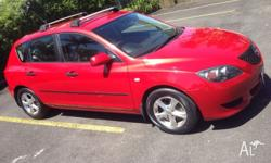 Hatchback Mazda 3, 5 Speed Manual, Great on Fuel, Power