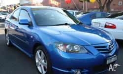 MAZDA, 3, BK Series 1, 2004, Front Wheel Drive, BLUE,