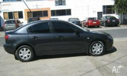 MAZDA,MAZDA3,2006, Black, grey trim, SEDAN, 4L,