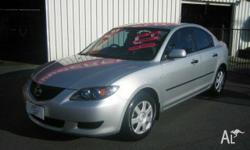 MAZDA,MAZDA3,BK,2005, FWD, Silver, grey trim, 4D SEDAN,