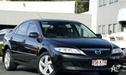 MAZDA,MAZDA6,GG,2004, FWD, Black, CLOTH trim, 4D SEDAN,