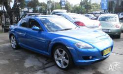 MAZDA,RX-8,2003, RWD, ELECTRIC BLUE, 4D COUPE, 1308cc,