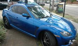 MAZDA,RX-8,LUXURY,2003, BLUE, COUPE, 6sp MANUAL,