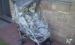 McLaren Stroller in good condition, comes with rain