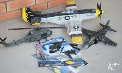 -p-51 Mustang 580mm Length x600mm wing span -Army