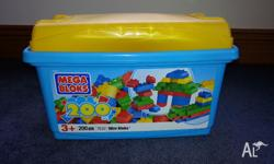 For Sale toys: 1) 200 pieces Mega Bloks 2) 3 Cars used,