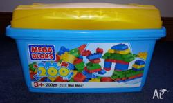 For Sale toys: 1) 200 pieces Mega Bloks 2) 2 Cars used,