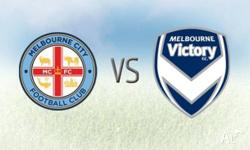 Melbourne City v Melbourne Victory I have 7 tickets
