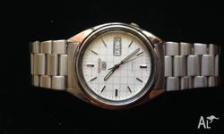 Men's Automatic Seiko Watch Stainless Steel (and never