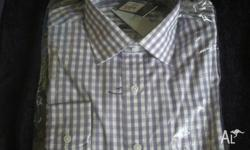 Men?s Avenue Cotton Rich Blend Shirt - Size 40 This