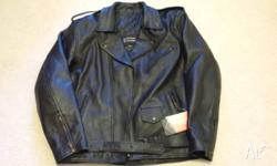 Brand new men's Leather Motorcycle Jacket, with tags.