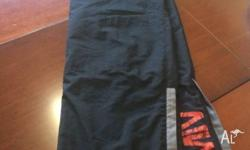 Black, Men's Black Nike Track Pants .. Front and Rear