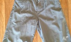 1 x size 32 Quicksilver shorts- Grey pinstripe 1 x size