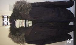 Men's Jacket Abercrombie & Fitch Size Large Faux Fur